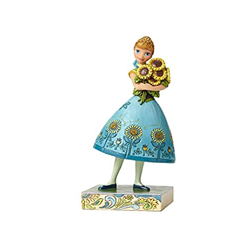 Disney Traditions 4050882 Figurine le Printemps en Fleur/Reine des Neiges Anna Figurine Multicolore 19 cm