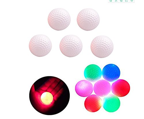 Sport family 5PCS LED leuchten Golfbälle Nacht Golfball offiziellen Größe Perfekt für Nacht