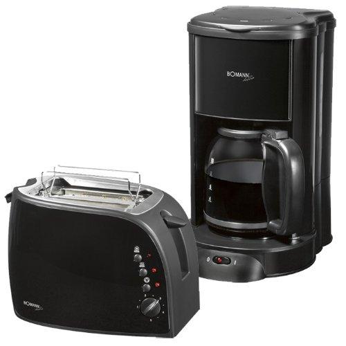 Küchenset Frühstücks-Set Toaster Kaffeemaschine Bomann TA 1962 + KA 1961 Dublin
