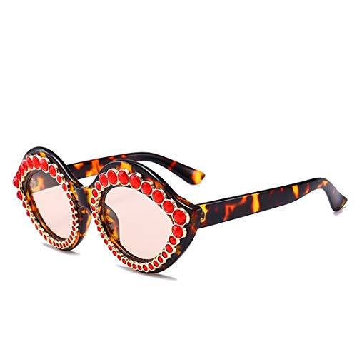 RONGLINGXING 2019 Mode Premium Polarized Sonnenbrillen für Frauen Cat Eyes Übergroße Sonnenbrille mit Perle, Retro Outdoor UV Protection Herren Sonnenbrille (Color : Brown, Size : M)