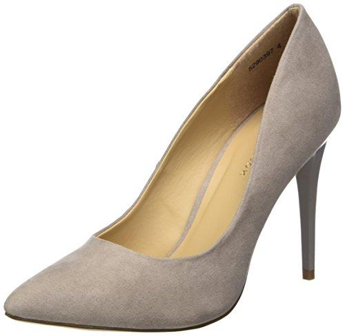 New Look Yummy, Zapatos de Tacón con Punta Cerrada para Mujer, Grey (Mid Grey), 37 EU