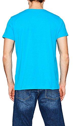 ESPRIT Herren T-Shirt 067ee2k018 Blau (Blue 2 431)