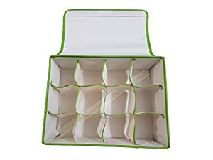 Inditradition Drawer Organizer, Dividers, Closet Storage Box | Multipurpose, Foldable, 12 Shelf (Non-Woven Cloth Box, Pack of 1)