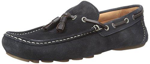 Armani Jeans Suede Loafer Avec Tassle Slip-on Mocassins Bleu