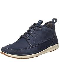 Pelle amazon Triactive grigio Clarks Run shoes wAqXSx8Z