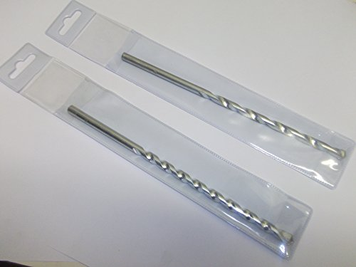 4.0mm x 75mm Steinbohrer Hartmetall-Spitze professionelle Qualität Einzeln Walleted X 2