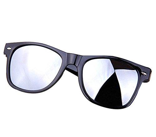 Wonque Sonnenbrille Anti-UV Sonnenbrille Reflektierende Sonnenbrille Unisex Sonnenbrille 1 Stück, weiß, 4.8 * 5.5CM