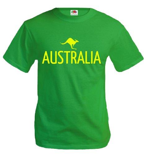 T-Shirt Australia-Kangaroo Kellygreen-Neonyellow
