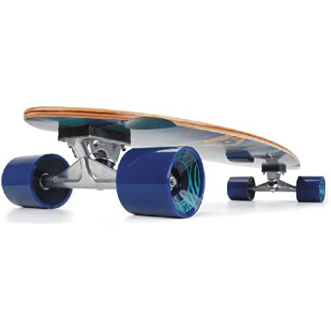 Urban Beach Fathom Pintail Skateboard, Blu/Nero, 104 cm