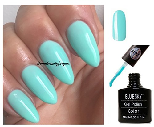 BLUESKY A103 Pastel Sky türkis light mint Nagellack-Gel UV-LED-Soak Off 10 ml plus 2 LuvliNail...