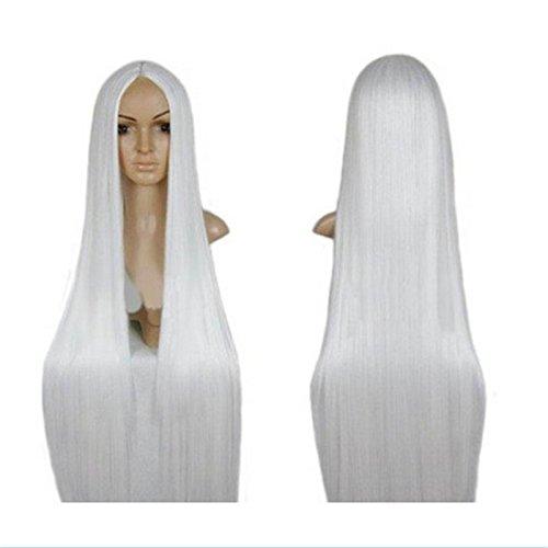 XY Fancy Damen lange gerade Haar ohne Pony Cosplay Perücke Kunsthaarperücke 100cm, (Für Montana Hannah Kinder Kostüme)