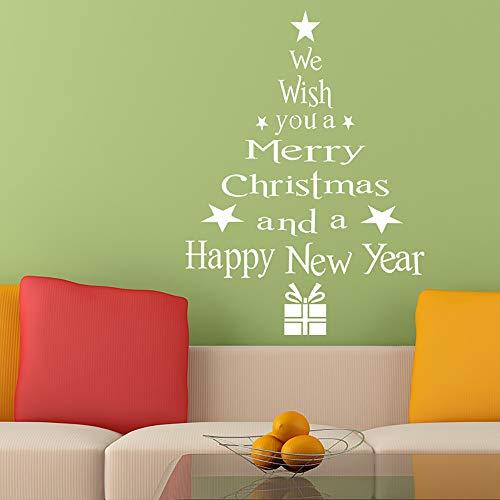 Huacat Weihnachtsbaum Buchstaben Stick Wandkunst Aufkleber Wandhaupt Room Decor Wandaufkleber Wall Art Decal Wand