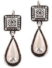 Ahilya Dakshin Collection Silver Drop Earrings for Women (AER18394-00SNAE)