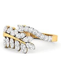 PC Jeweller The Aira 18KT Yellow Gold & Diamond Rings