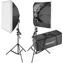 Neewer Kit de Iluminación- 50x70-centímetro Caja de Luz, Soporte de Luz, 4-Enchufe Soporte de Luz, 8 Bombillas y Bolsa de Transporte para Fotografía de Producto,Estudio de Foto y Grabación de Vídeo