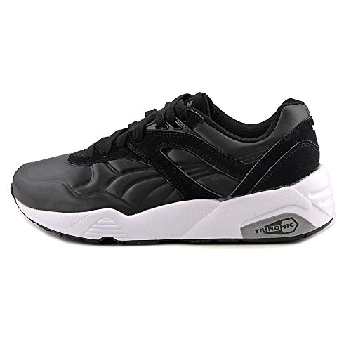 Puma R698 Matt & Shine Synthétique Baskets Black-Black-White Canvas