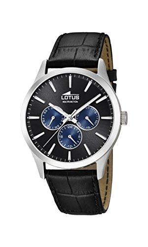 Lotus Watches Homme Multi-Cadrans Quartz Montre avec Bracelet en Cuir 18576/6