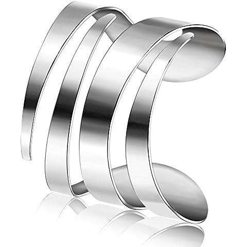 ZWX lovers in Europa e America Bracciale in linea/Geometric titanio acciaio aperto Bangle punk/ marea bracciale personalizzato per uomini e