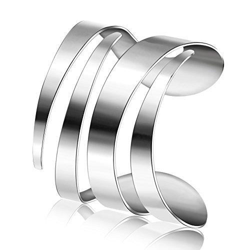 lovers in Europa e America Bracciale in linea/Geometria-TI acciaio aprire Bangle/ marea bracciale personalizzato per uomini e