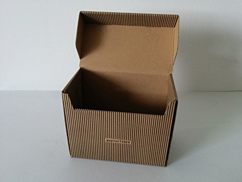 PapierTiger von NA-und® Karteikasten Streifen A5 Kartonage braun (5 Stück)