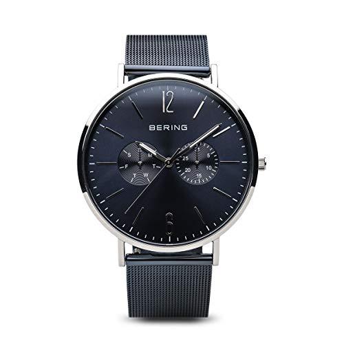 Bering Herren-Armbanduhr Classic Multifunktion mit Meshband 14240-303