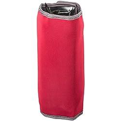 LEVIVO CD01 Funda enfriadora de Botellas de Neopreno con 8 cámaras de Gel y Cierre de Velcro, Rojo, 21 cm