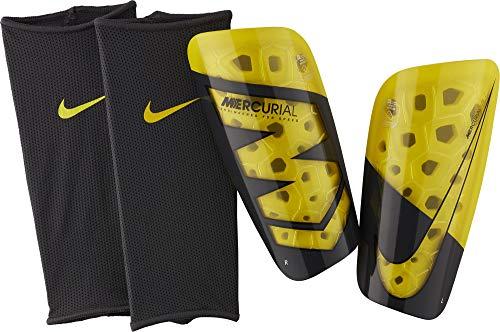 Nike Unisex-Erwachsene Mercurial Lite Schienbeinschoner, Anthracite/Opti Yellow, L