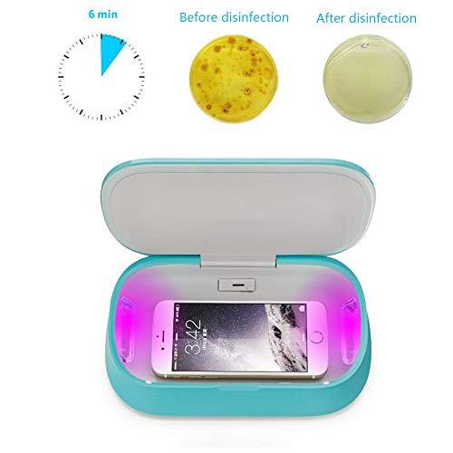 XUWANG UV-Lichtdesinfektionsgerät und Sterilisator töten 99,9% der Bakterien ohne Chemikalien ab Für Babyprodukte, Smartphone, Zahnbürste, Jewelryr - Mundschutzreiniger - Halter für Reiniger