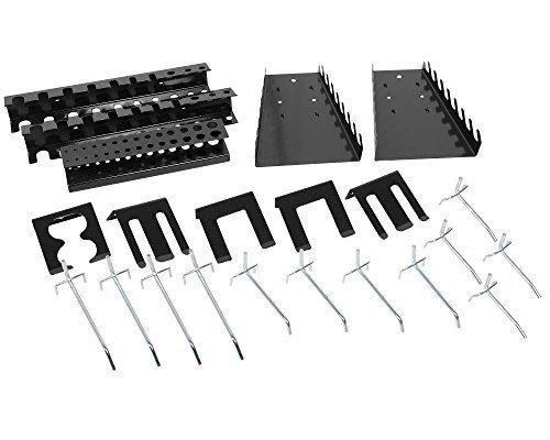 Lochwandhaken Hakensortiment Werkzeuglochwandhaken Metall 22 - teilig, grau
