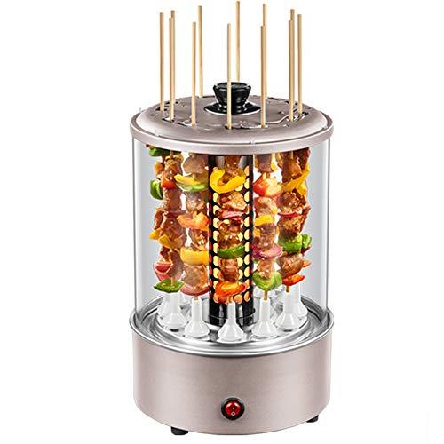 JZH-Wine set Elektrischer Vertikaler Drehspieß-Grill 1100W BBQ-Küche-Kebab-Huhn, Das Gemüse Kocht Barbecue-Küchengeräte-Maschinen-Aufsteckspindel-Kocher Verwendbar Für 3-6 Leute