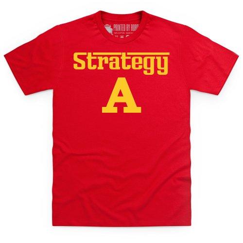 Strategy A T-shirt, Uomo Rosso