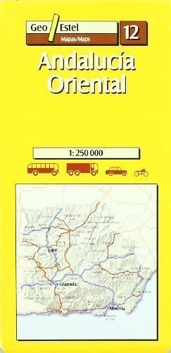 12: Andalucia Oriental Road Map 1:250, 000 (Main routes) Revised Edition by Geo Estel published by SGIT Geoestel SA (2005)