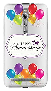 WOW Transparent Printed Back Cover Case For Asus Zenfone 2 ZE551ML