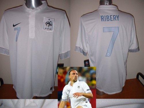 Nike Frankreich Ribery Franck Shirt Erwachsenen Fußball Jersey XL BNWT Bayern München extra groß Francais Radsport Trikot Maillot Marseille