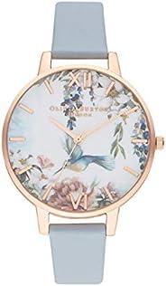 Olivia Burton Women's Quartz Watch, Analog Display and Leather Strap OB16E