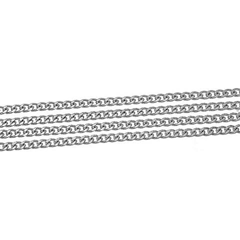 creafirm–1m catena bracciale argento opaco 10x 9mm - 1m Estensione Piombo