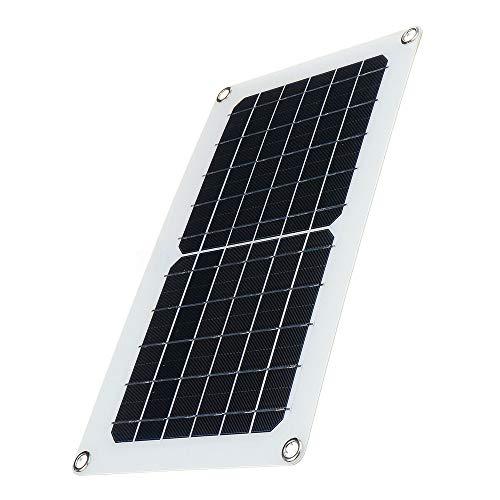 Sisit Solarpanel, 30 W, 5/12 V, Solarpanel mit USB-Anschluss, ultradünn, Silikon, Solarladegerät, tragbar für mehrere Telefone, Bootsautotabletts, Notfälle, Outdoor, Camping, Reisen