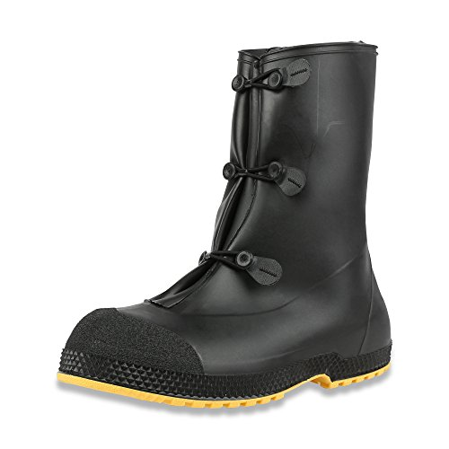 Servus Superfit 12 PVC Dual-Compound Mens Overboots, Black & Yellow Black/Yellow