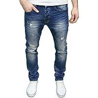 Eto da uomo Designer marca invecchiato Rip abraised Tapered Fit Jeans