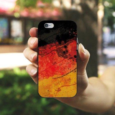 Apple iPhone X Silikon Hülle Case Schutzhülle Deutschlandflagge Deutschland Flagge Germany Silikon Case schwarz / weiß
