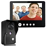 ZY Kit citofono Campanello per videocitofono da 9 Pollici 1 Telecamera 1 Monitor Sistema videocitofonico per Visione Notturna