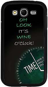 PrintVisa D8051 Quotes Attitude Wine Time Case Cover for Samsung Galaxy Grand 2 (Multicolour)