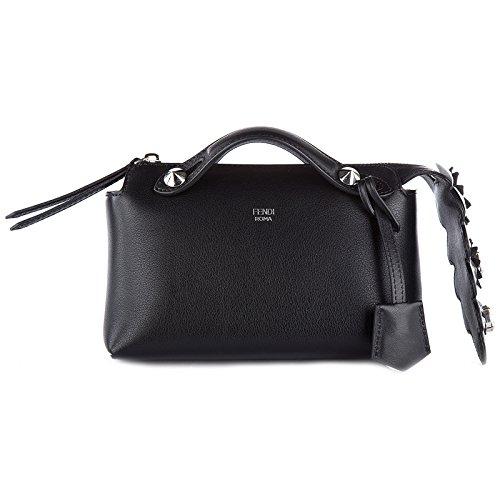 Fendi Leder Handtasche Damen Tasche Bag by the way mini Schwarz