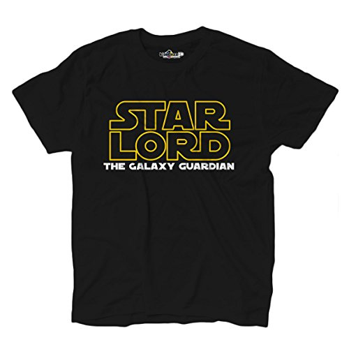 (T-Shirt Shirt Herren Parodie Star Wars Lord The Galaxy Guardian Film Geschichte Uns, Black Opal)
