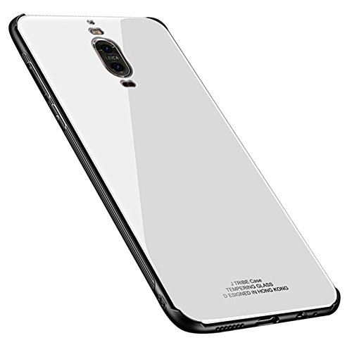 Kepuch Quartz Huawei Mate 9 Pro Hülle - TPU + Gehärtetes Glas Rückseite für Huawei Mate 9 Pro - Weiß