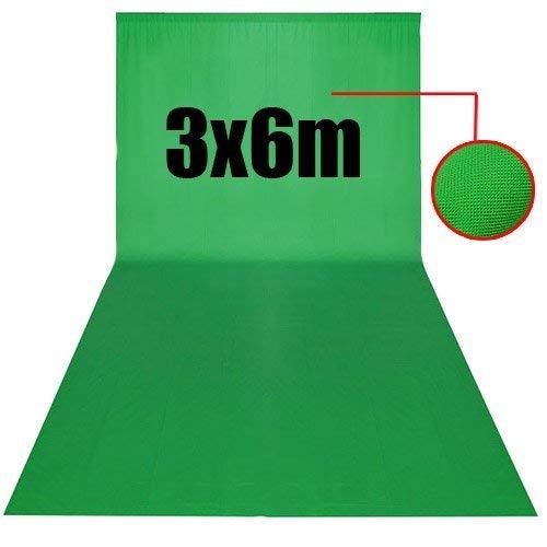 PHOTO MASTER 10x20piedi/3x6m Sfondo Pro Pieghevole di Tessuto non tessuto Fondale per Fotografia, Video e Televisione - Verde