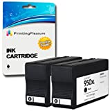 Printing Pleasure 2 NERO Cartucce d'inchiostro compatibili per HP Officejet Pro 8600, 8600+, 8100, 8610, 8620, 8630, 8640, 8660, 251dw, 276dw | Sostituzione per HP 950XL CN045AN