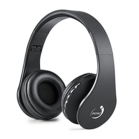 Bluetooth Headphones VIYAO Wireless Over-ear Stereo Headsets Foldable headphone with Microphone for PC/Smartphone/iphone 6 6s 6plus 5s ipad/Samsung/ PSP/ HTC/ Blackberry /Android-Black