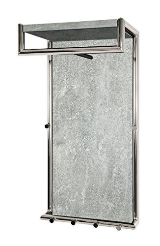 Haku mobili appendiabiti con 6ganci, metallo, cromato/optique calcestruzzo, 30x 40x 80cm