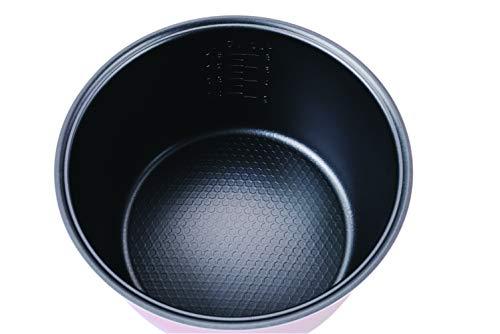 bkitchen Cook 200 Edelstahl Reiskocher mit Dunst- und Warmhaltefunktion, Reis, Fleisch, Fisch und Kartoffeln
